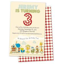 kids birthday party invitations adorable animal train personalized kids birthday party invitation