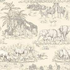 Animal Safari Metallic Wallpaper ...