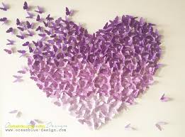 lavender and canvas fresh ombre erfly heart 3d canvas wall art lavender purple