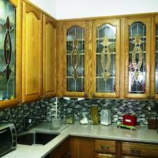 hand crafted elegant stained glass custom kitchen cabinet inserts ci 2 by terraza stained glass custommade com