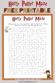 Harry Potter Maze Free Printable Kids Activity Sheet Lovely Planner
