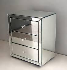 glass bedside table. Glass Bedside Table Drawer