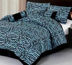 image of blue zebra bedding
