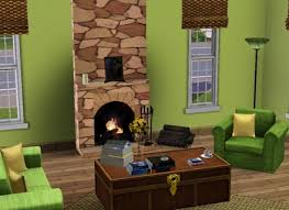 apple green and brown living room house decor ideas