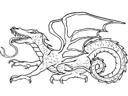 Komodo Dragon Coloring Pages Printable Dragon Coloring Pages Dragon