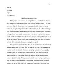 Word Document Mla Format Mla Format In Microsoft Word By English With Miss Bee Tpt