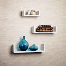 image of floating wall shelves decorating ideas