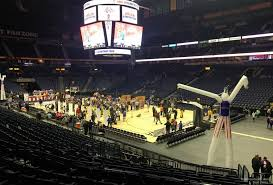 Bridgestone Arena Seating Chart Basketball Bridgestone Arena Section 118 Basketball Seating