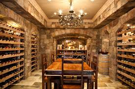 awesome decorations of wooden wine cellar racks with big brick stone wall structured luxurious wooden awesome wine cellar