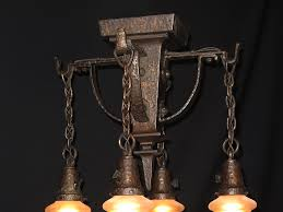 hammered arts crafts lighting fixture antique lighting for