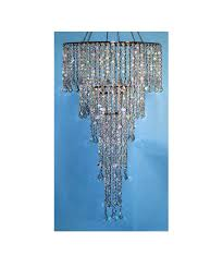 silver crystal beaded chandelier combo