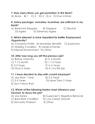Questionnaire On Employee Turnover