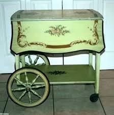 antique wooden serving cart wood tea cart wheels wooden serving on vintage folding leaf dollhouse antique wooden serving cart