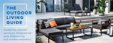 thebay furniture. A Modern Outdoor Seating Set Of Dark Wood Tables With Cushioned Loungers, Sofa And Thebay Furniture R