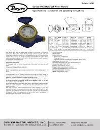 Dwyer Wm2 Water Meter Manual Pdf Manualzz Com