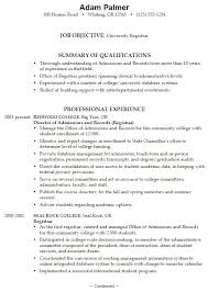 Sample High School Resume College Resume Examples For College