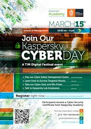 The annual event skolkovo cyberday is dedicated to topical issues of technology development in the field of cybersecurity. Kaspersky Cyberday Invitation At The School Of Management