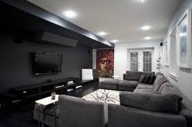 dark media room. Dark Wall / Grey Floors Family Media Room Ideas. But Tile Floors.