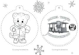 Holiday Coloring Pages 952 Tiger Ornament Magnificent Holiday