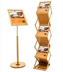 Wooden Display Stands Uk Mesmerizing Wooden Leaflet Stand L Exhibition Leaflet Dispenser Rap Industries