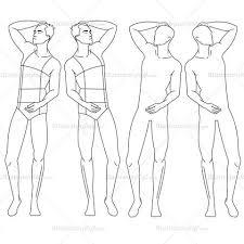 Male Fashion Croquis Template