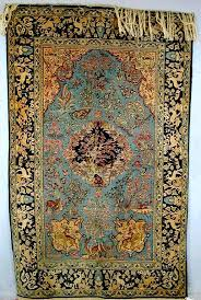 qum rug part silk prayer rug c 1930 40
