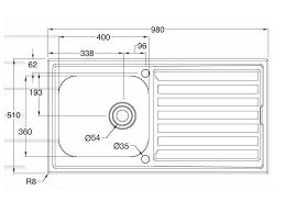 beautiful single kitchen sink dimensions standard size sink hole g day