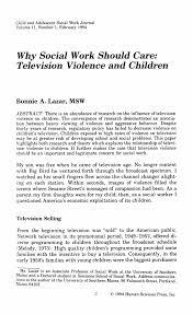 children television violence essay violence television essays