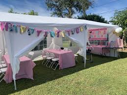 first birthday party girl party tent