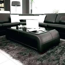 black leather coffee table ottoman fancy . Black Leather Coffee Table Square Ottoman