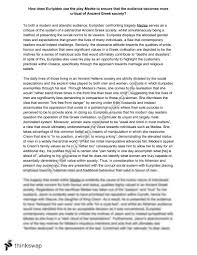 Analytical Response Essay Euripides Medea Analytical Text Response Year 12 Vce