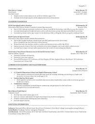 Student Athlete Resume #8286