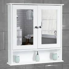 white bathroom wall cabinet storage