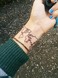 карта мира тату на руке тату карта тату салон N1 в тату на тему