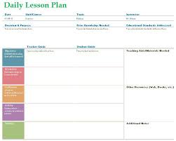 Teacher Daily Lesson Planner Template Formal Word Templates
