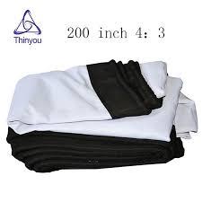 <b>Thinyou</b> 200 inches 4:3 HD Projector Screen <b>Portable</b> Folded <b>soft</b> ...