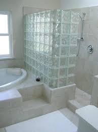 glass block shower kit bricks room kits designs photos home depot