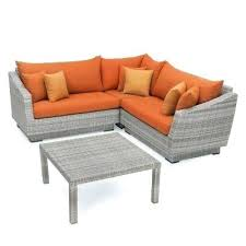 orange outdoor furniture 4 piece patio corner sectional set with orange cushions orange county outdoor furniture orange outdoor furniture