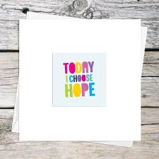 Quote Cards Cool Inspirational Quote Cards Choose Hope Positive Quote Card Itty