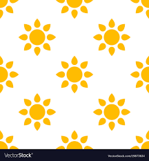 Sun Pattern Classy Simple Sun Seamless Pattern Background Royalty Free Vector