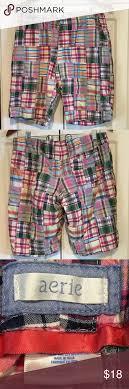 Aerie Size Chart Swim Aerie 100 Cotton Madras Shorts Size L Aerie Madras Cotton
