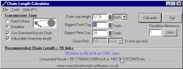 Chain Length Calculator