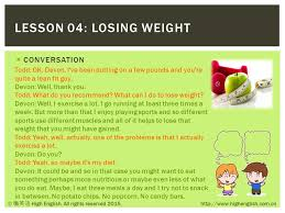 HIGH ENGLISH LESSON 04: LOSING WEIGHT DAILY ENGLISH COMMUNICATION ...