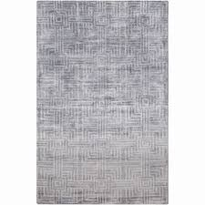 gray accent rug unique hand knotted mae geometric viscose rayon from bamboo rug 2 x 3