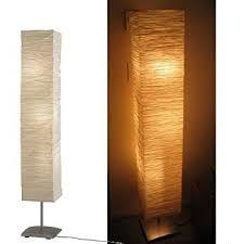 Paper Shade Floor Lamp Beauteous Modern Rice Paper Shade Asian Floor Mood Lamp 60 Warm Led Rice