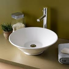 bathroom sink. Bathroom Sinks - Celerity Above Counter Vessel Sink White T