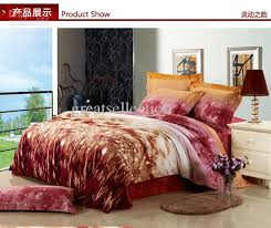 king size modern bedding duvet cover set thicken sueded cotton reactive dyeing fabric coffee burdy color bed in a bag custom bedding baseball bedding