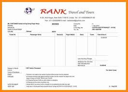 Image Result For Tours And Travels Bill Format In Ms Excel