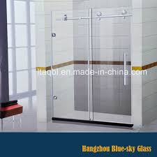 china hz 10mm frosted tempered glass sliding door for bathroom china silding door glass silding door