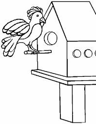 Kleurennu Vogel In Vogelhuisje Kleurplaten